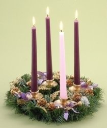 Christian real estate agent blogger Kaye Swain talking Advent wreaths