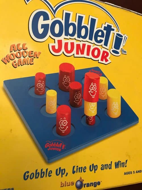 Gobblet and Gobblet Junior are great critical thinking activities grandparents grandchildren