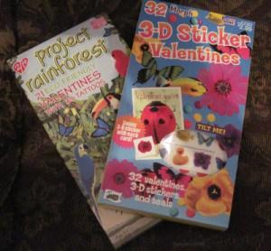 Grandkids will love these cute sticker and tattos valentines