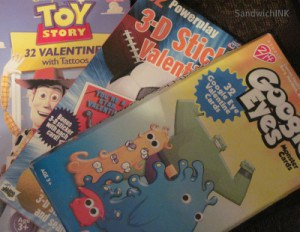 These discounted Valentines make almost free craft projects for kids