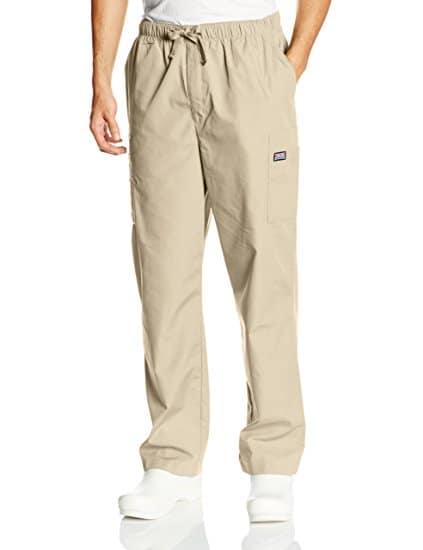 Elderly dad would love these khaki full elastic waist pants