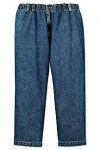 These Harbor Baby full elastic waist mens jeans are great for men who wear 1x and up
