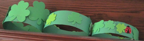 Three great St Patricks Day Hats - crowns really - waiting for all the festive St Patricks Day Activities