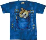 adorable animal print t shirt cat