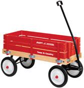 A kid wagon makes an excellent garden wagon