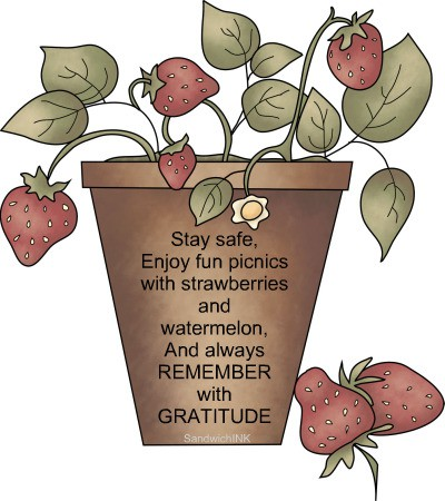 Remember with Gratitude - Memorial Day clip art