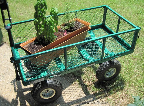 My senior moms utility garden wagons come in quite handy before a storm s