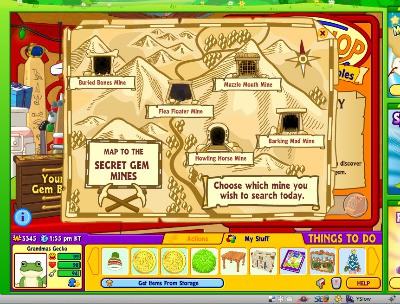 I just use the secret gem mines to earn Webkinz money however my grandkids often like to save their jewels