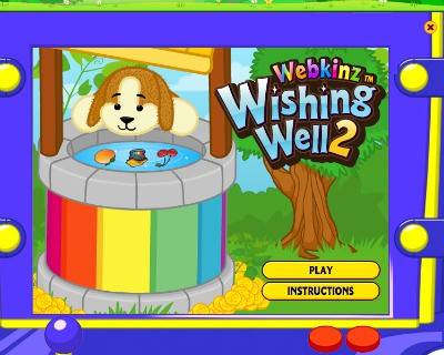 Once you get in the Wishing Well it should give you 5 chances to earn Webkinz money