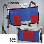 This organizer also goes nicely on lightweight transport travel wheelchairs