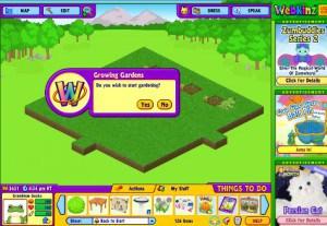 Do you wish to start gardening with your Webkinz animals