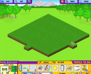 Now I have a clean slate yard - perfect to plant seed for my Webkinz stuffed and virtual animals