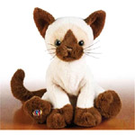 The Webkinz siamese cat are very cute stuffed cats - these anmals are very soft and fluffy
