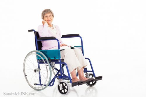 When caring for elderly parents at home or long distance wheelchairs can become common