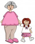 Grandparents clipart with grandparent and grandchild makes nice National Grandparents day clipart