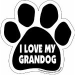 I love my granddog car magnet with cute big paw