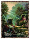 This Thomas Kinkade Christian tapestry wall hanging throw has such an encouraging verse - making it a delight for heart and home decor