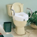 This carex ez lock raised toilet seat with adjustable and removable arms is very handy for those caring for elderly parents