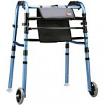 When caring for elderly parents - a foldable walker is very handy to keep on hand