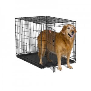 Adjustable dog crates and exercise pens are great tools for the Sandwich Generation caring for elderly parents who have a granddog