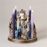 Lovely and Ornate Christmas Nativity Advent Wreath Sets for the Sandwich Generation families
