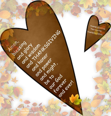 Thanksgiving is a time of sweet Sandwich Generation family memories and these sweet Autumn leaves and Happy Harvest and Thanksgiving clipart are full of encouraging Bible verses for all of us