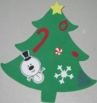 Even this granny nanny had fun making easy Christmas tree ornaments with crafts foam stickers - its definitely easy for kids and seniors