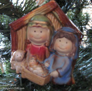 Nativity sets make delightful and unique Christmas tree ornaments for the Sandwich Generation