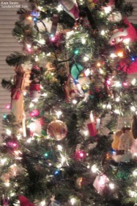 Thanks to my grandchilds request during tree decorating activities for grandparents and grandchildren my tree now has colored and white lights and looks lovely as you can see thanks to my easy to use digital camera