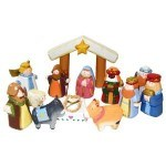 The Sandwich Generation granny nanny thinks these cute wooden children's and toddler indoor Christmas nativity sets are delightful for grandchildren
