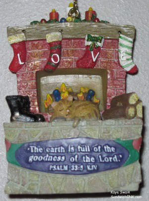 This adorable and unique Christmas tree ornament is one of many of mine with encouraging Bible verses - great for sharing with the grandkids