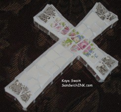 This lovely cross is perfect for Advent activities for grandparents and their grandchildren to keep the focus on Jesus Who is The Reason for the Season
