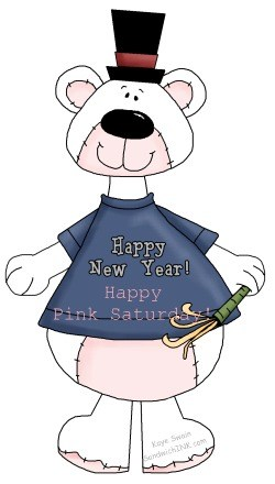A pink Saturday Happy New Year with this BEARY cute Happy Holidays clip art