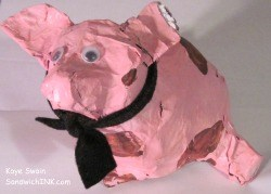 Sweet family memories for this Sandwich Generation granny nanny and granddaughter when we look at this cute PINK pig