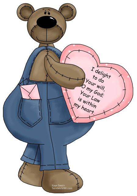 For the grandboys these bear Valentines with encouraging Bible memory verses would be a fun illustration for a Sandwich Generation granny nanny