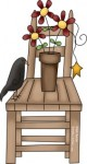 For the senior who loves birds and butterflies and gardening - a fun way to practice random acts of kindness is to bring a flower and birdseed - dont you love this bird and flower clip art