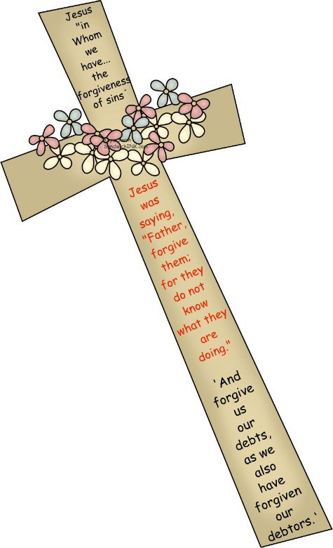 During this last Wednesday of Lent 2011 this cross clip art reminds us of the wonderful example Jesus set for our whole Sandwich Generation family when He was on the cross