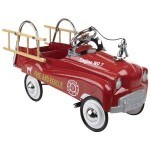Imagine how much fun your grandchildren will have with this cute retro kids red fire chief truck pedal car
