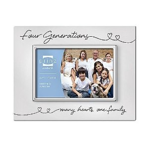 My multigenerational Sandwich Generation family could put this four generation picture frame to good use