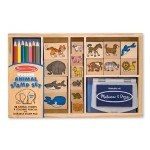 The Sandwich Generation granny nanny has learned the art of compromise well - and we used it on this cute animal stamp pad set