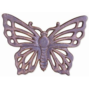 The Sandwich Generation granny nanny loves pink things like butterfly stepping stones for the garden design