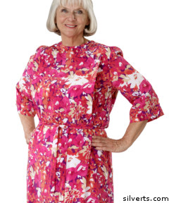 Silverts carries a wide line of comfort clothing including lovely adaptive dresses and clothing for seniors that work well with wheelchairs