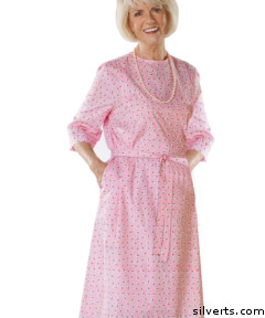 Silverts has many great choices for dresses for seniors who are stroke patients - and plenty of cute pink things