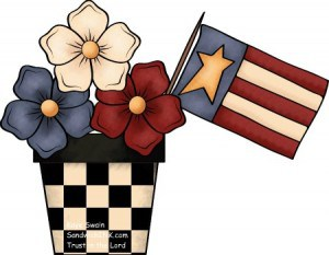 This Sandwich Generation granny nanny loves cute patriotic red white and blue country clipart - dont you