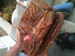 Want to know how to break in a baseball glove for your grandkids - this is an intriguing method