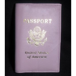 Love this pink leather passport holder for Pink Saturday