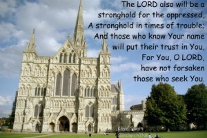 This castle is an excellent example of a stronghold to illustrate the encouraging Bible verses in Psalm 9 - perfect for the Sandwich Generation