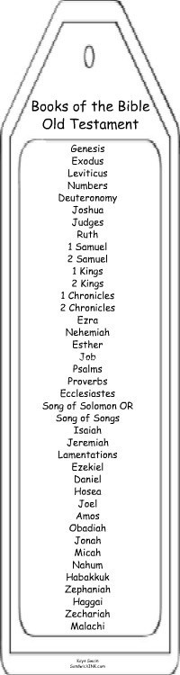 Fun things do grandchildren - learn Old Testament Books of the Bible with bookmarks