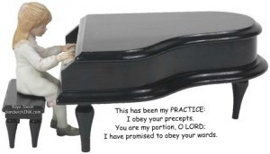 WIth all our piano practicing grandchildren these encouraging Bible verses will be easy for them to understand
