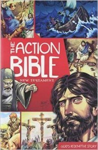 Christian Bibles for kids include the Action comic Bible books for kids to study